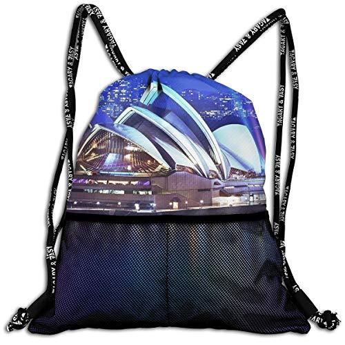 Drawstring Backpacks Sydney Theatre Building Leisure Bundle Backpack Beam Backpack Sport Gym Travelling Bag ()