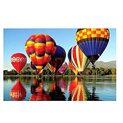 Puzzle 1000 Piece Jigsaw Puzzle Kids Adult –Hot Air Balloon-29.53 x 19.69inch (A): Toys & Games
