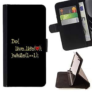 For Sony Xperia M5 E5603 E5606 E5653 Case , Vive la vida- la tarjeta de Crédito Slots PU Funda de cuero Monedero caso cubierta de piel