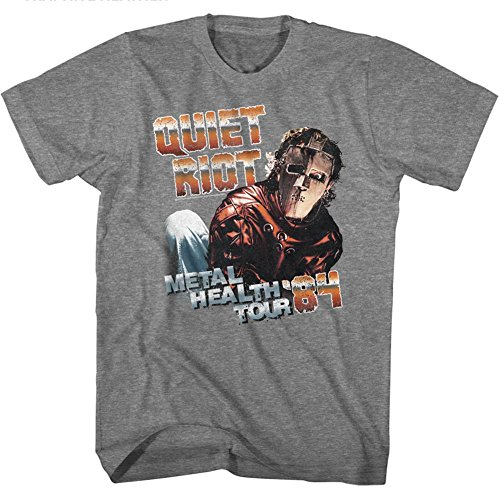 Quiet Riot Heavy Metal Rock Band Health Tour 2-Sided Adult T-Shirt Tee