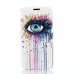 Uming® M Slim PU Colorful Pattern Printing Drawing case for Samsung Galaxy S6 Edge S6Edge PU Flip Holster Plastic Cover inside with Stand Stander Holder Hand Free Shell Protective Mobile Cell Phone Case Cover Bag - Big eye fade