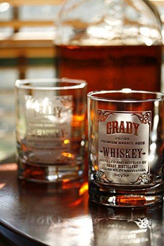 Personalized Single (Personalized whiskey label, scotch, bourbon glasses SINGLE GLASS)