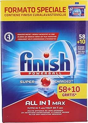 Pastillas para lavavajillas Finish All in 1 Max 58+10 ...