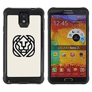 Suave TPU GEL Carcasa Funda Silicona Blando Estuche Caso de protección (para) Samsung Note 3 / CECELL Phone case / / cube lion /