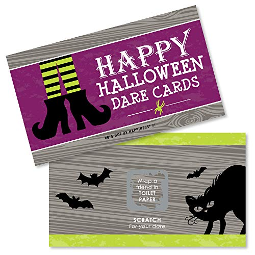 (Big Dot of Happiness Happy Halloween - Witch Party Game Scratch Off Dare Cards - 22)