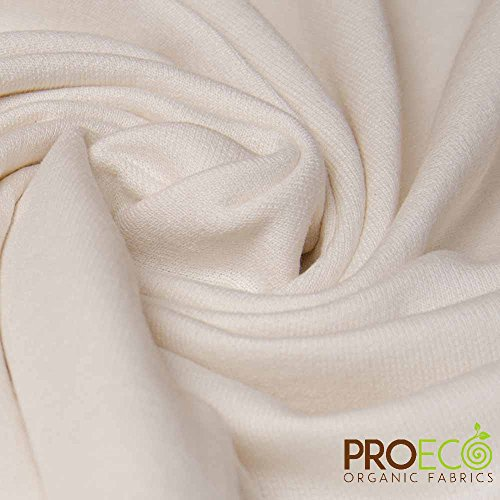 ProECO Organic Cotton French Terry Fabric (Made in USA, Natural, sold by the yard)