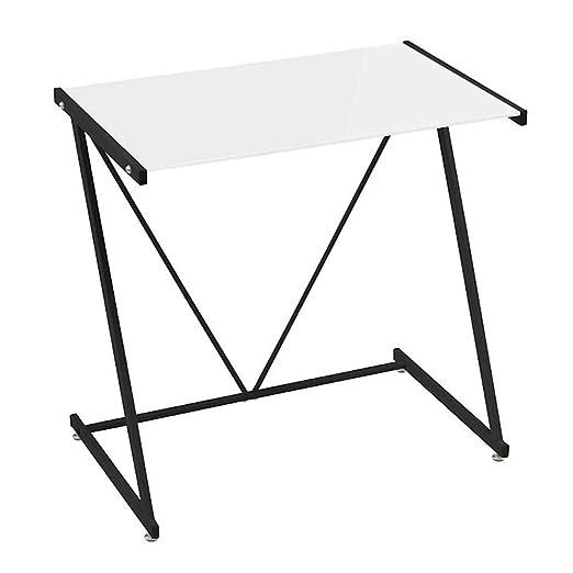 Mesa Escritorio de Cristal Templado Blanca Moderna para Dormitorio ...