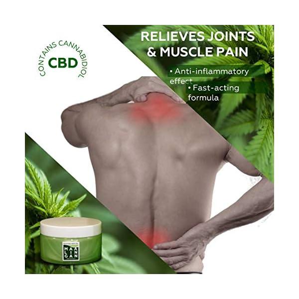 Maalingan gel antidolorifico lenitivo e rilassante maxi formato alla canapa. Pomata per dolori muscolari, schiena, collo…