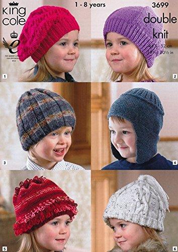 King Cole Childrens Hats Dk Knitting Pattern 3699 Amazon