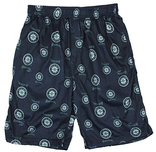 Outerstuff Seattle Mariners MLB Little Boys and Big Boys Lounge Shorts - Navy Blue (XS (4/5))