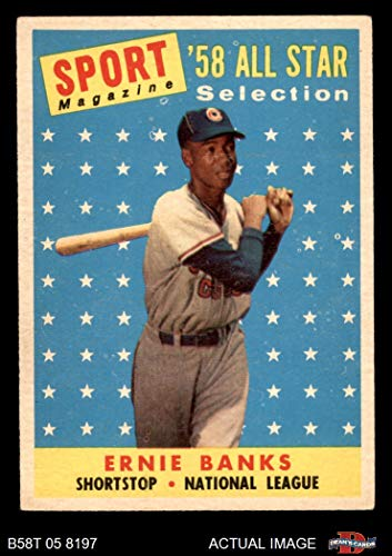 1958 Topps # 482 All-Star Ernie Banks Chicago Cubs (Baseball Card) Dean's Cards 5 - EX Cubs