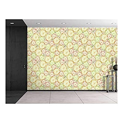 Incredible Design, Made With Love, Large Wall Mural Seamless Floral Pattern Vinyl Wallpaper Removable Decorating