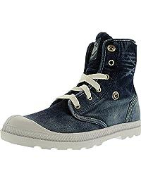 Palladium Women's Baggy Low Lp Denim Ankle-High Cotton Fashion Sneaker