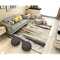 MIRUIKE Area Rugs Modern Abstract for Living Room Non-Slip Bedroom Carpet Washable Soft