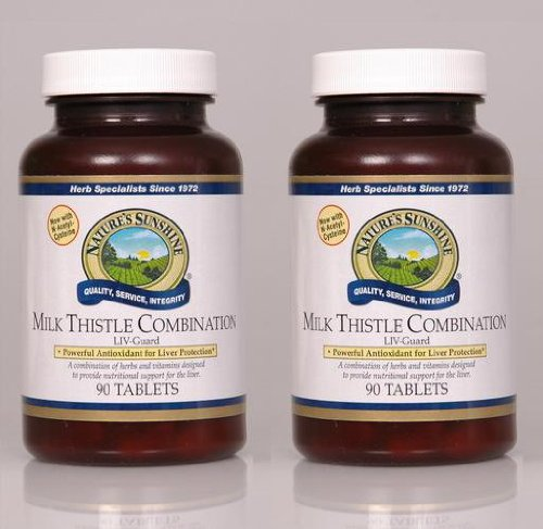 Naturessunshine Milk Thistle Combination Digestive System Support 90 Tablets (Pack of 2)