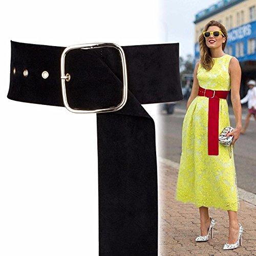9426f69402 2018 primavera y verano moda tendencia cinta faja femenina ancho Vestido de  suéter decorativo hijo viento