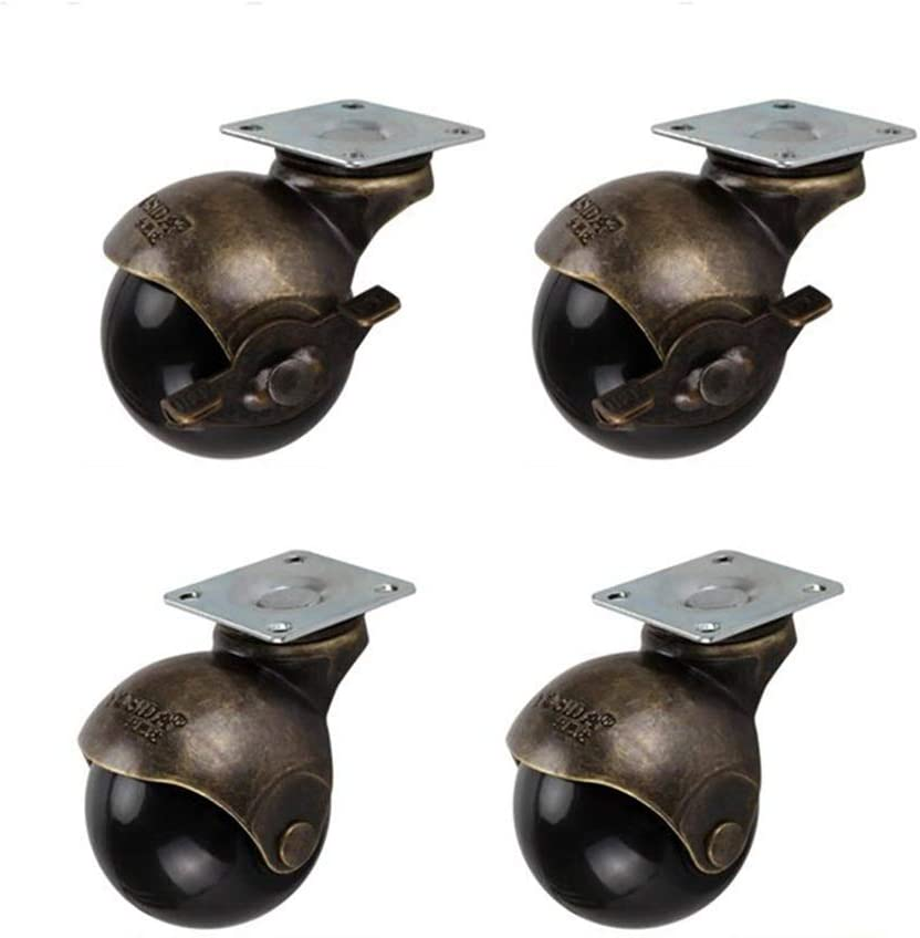 2 Inch Ball Casters with Top Mounting Plate for Sofa Chair Cabinet Bench Color : Universal, Size : 2 inch MUMA 4pcs Antique Furniture Swivel Caster Wheels