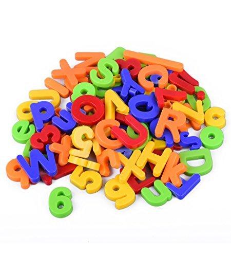 Boxiki kids 80 Piece Magnetic Alphabet Letters and Numbers Set for Kids Magnetic Letters Numbers and Math Symbols