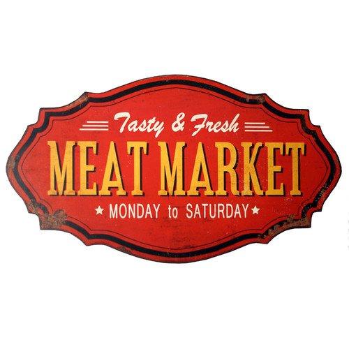 Vintage Metal Meat Market - Meat Shop