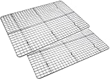 Checkered Chef Cooling Racks for Baking - Baking Rack Twin Set. Stainless Steel Oven and Dishwasher Safe Wire Cooling Rack. Fits Half Sheet Cookie Pan- set of 2