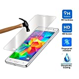 YRLIN - Full Cover Edge Cover Super Clear Anti-Scratch Tempered Glass Screen Protector Film for Samsung Galaxy Grand Prime DUOS G531H