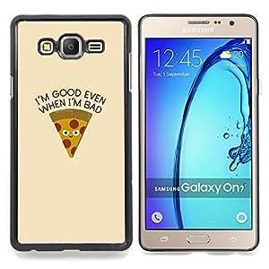 Stuss Case / Funda Carcasa protectora - Pizza Alimentos Foodie minimalista texto - Samsung Galaxy On7 O7
