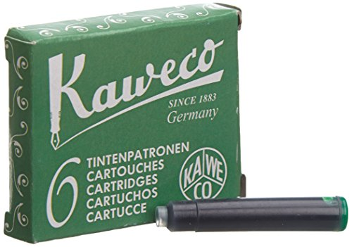Kaweco Fountain Pen ink cartridge short green - pack of 6