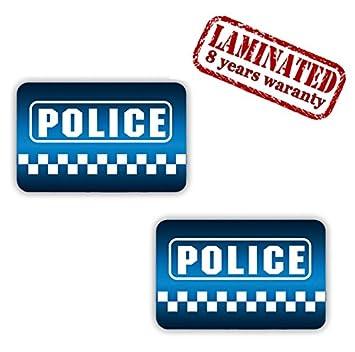 SkinoTM 2 x Vinyl Self-Adhesive Decal Stickers Police Sign