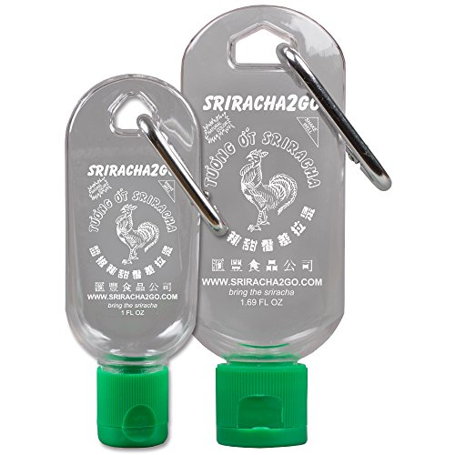 Sriracha Keychain Combo Pack (1.7 Ounce and 1 Ounce, Sauce Not Included)