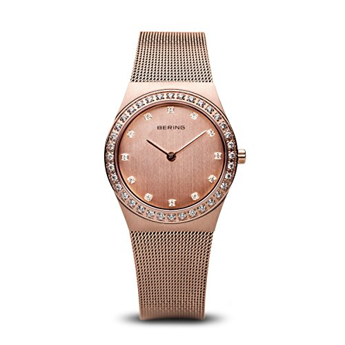 BERING Time 12430-366 Womens Classic Collection Watch with Mesh Band and Scratch Resistant Sapphire Crystal. Designed in Denmark.