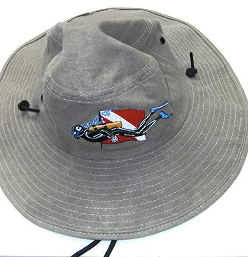 Hat Diver (Trident Floppy Swimming Diver Flag Safari Hat Scuba Diving Dive)