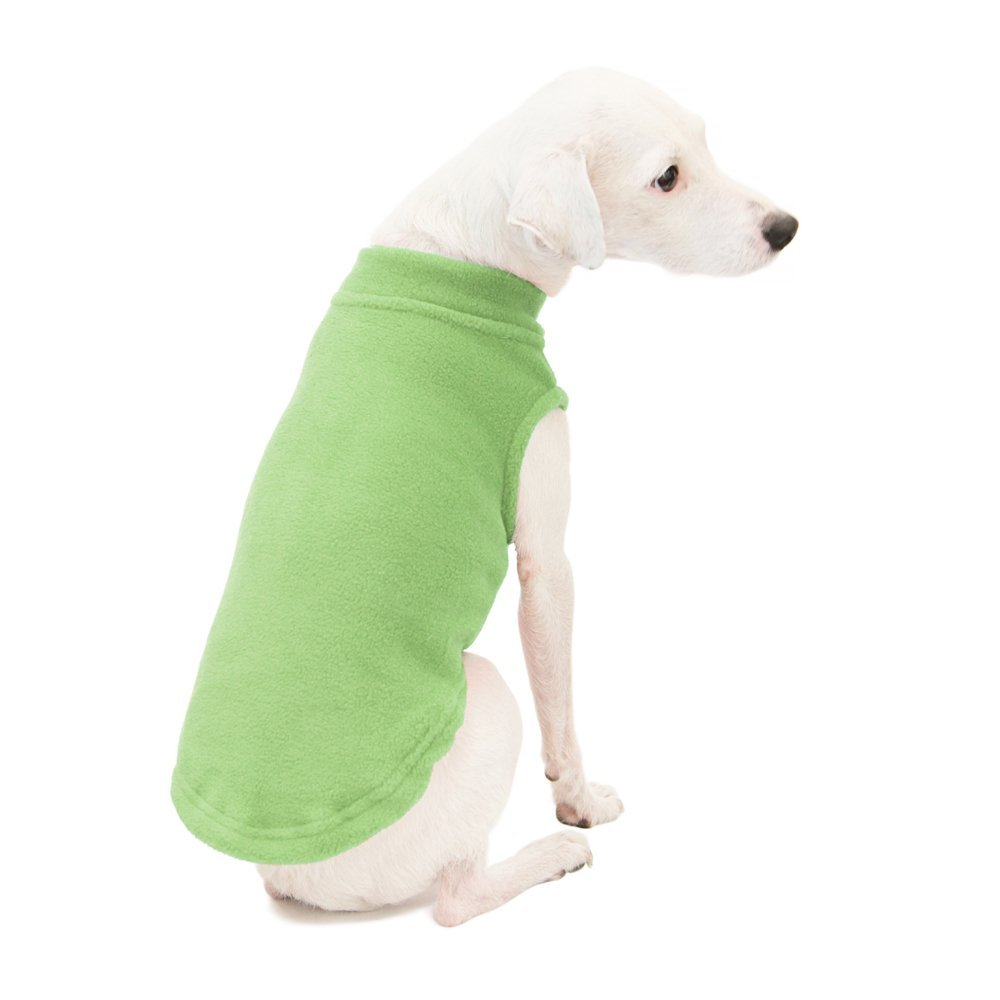 Gooby Stretch Fleece Pull Over Cold Weather Dog Vest, Grass Green, XX-Large