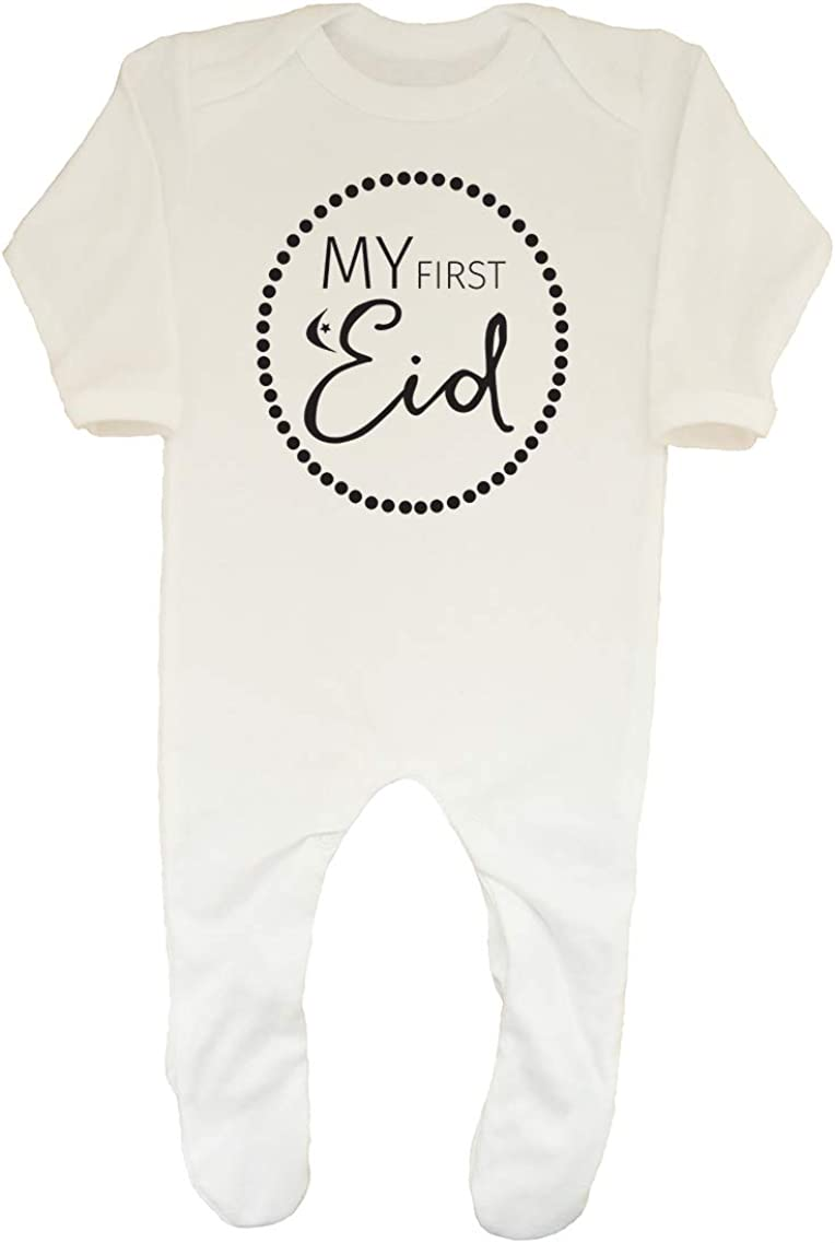 Shopagift Baby My 1st Eid Sleepsuit Romper