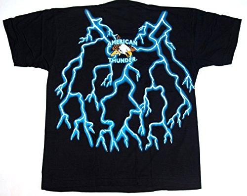 T-Shirt American Thunder CHEROKEE Baumwolle Premium Qualität beidseitig Siebdruck erhältlich in den Größen L, XL und XXL US-Import Indianer