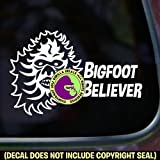 BIGFOOT BELIEVER Sasquatch Vinyl Decal Bumper Sticker Car Window Sign WHITE