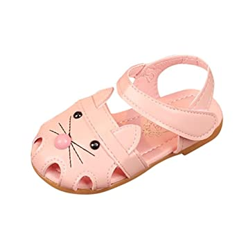 Fuxitoggo Zapatos para niñas, niños pequeños para bebés, Dibujos Animados, Gato, Princesa