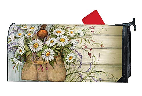 MailWraps Studio M Fresh Picked Daisies Decorative Spring Summer Floral Oversized, The Original Magnetic Mailbox Cover, Made in USA, Superior Weather Durability, Large Size fits 8W x 21L Inch Mailbox