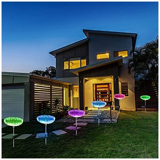Garden and Outdoor Neporal Solar Garden Lights, 7 Color Changing Solar Lights Outdoor Decorative, IP65 Waterproof Garden Lights Solar… outdoor lighting