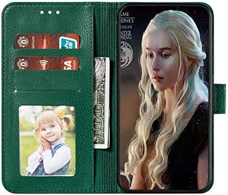 Huawei Y9 Prime 2019 専用 おしゃれ ケース, CUSKING Huawei Y9 Prime 2019 ケース 無地 全面保護 耐衝撃 マグネット式 保護ケース エンボス 柄 カバー カードポケット付き