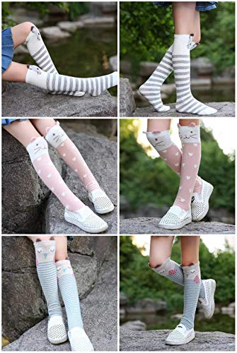 1cc84514d Flanhiri Kids Toddler Girls Knee High Socks Cartoon Animal Warm Cotton  Stockings
