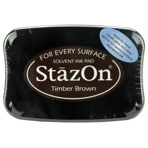 Tsukineko Full-Size StazOn Multi-Surface Inkpad, Timber Brown