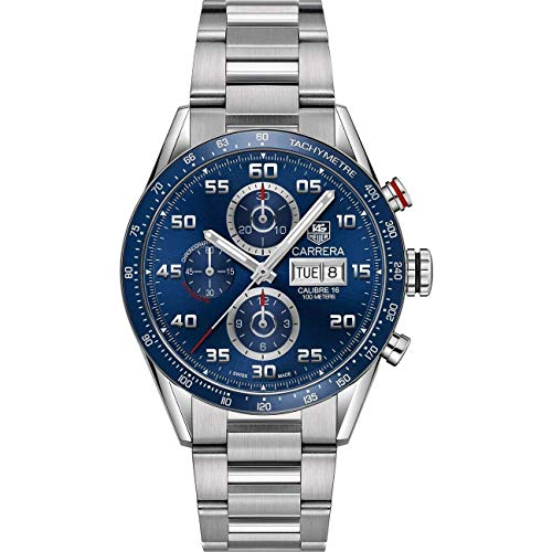 (TAG Heuer Carrera Calibre 16 Automatic Chronograph Blue Dial Men's Watch)