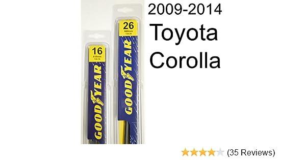 Amazon.com: Toyota Corolla (2009-2014) Wiper Blade Kit - Set Includes 26