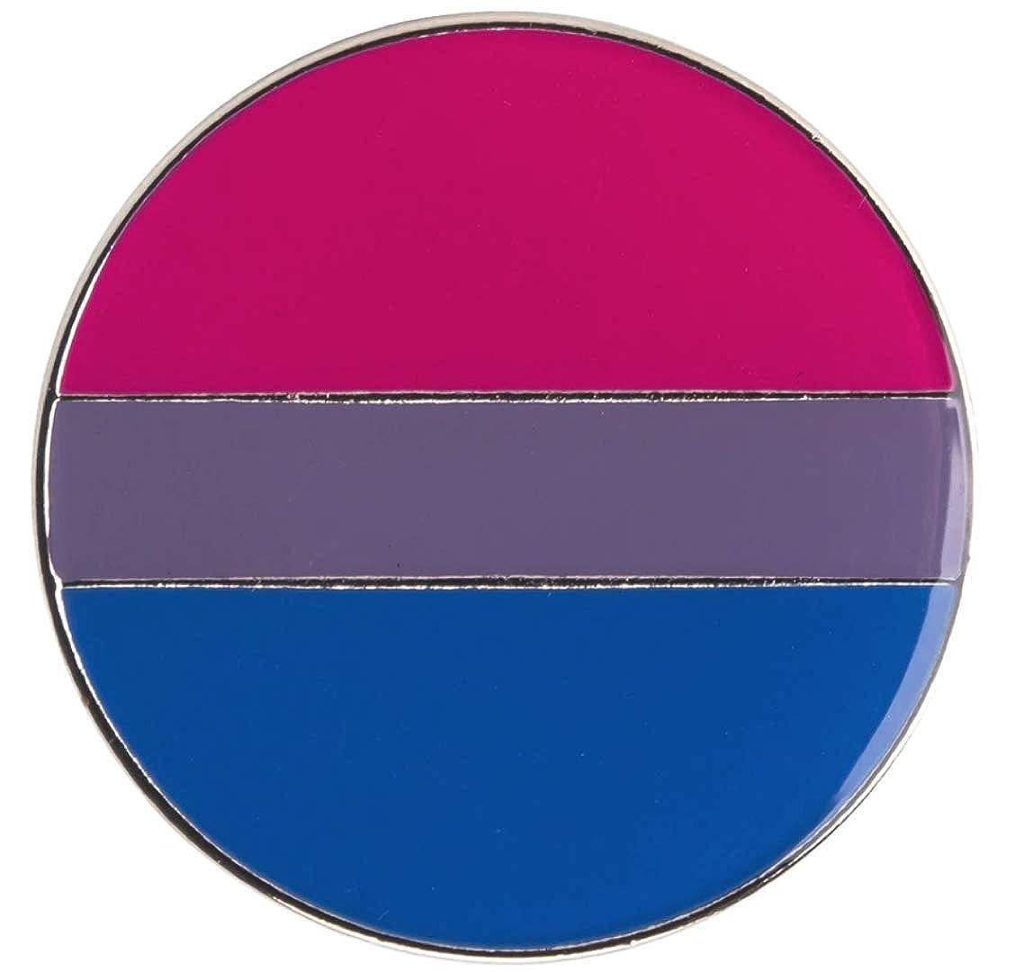 LGBTQ 1 Inch Bisexual Flag Round Pride Lapel Pin