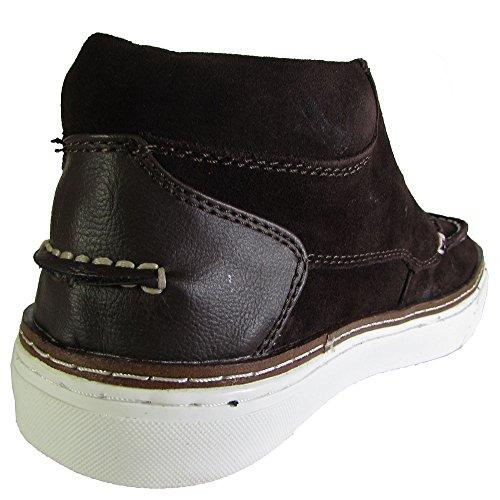 Steve Madden Mens P-Garyy Moc Toe Fashion Sneaker Shoe Brown Suede Tns8k