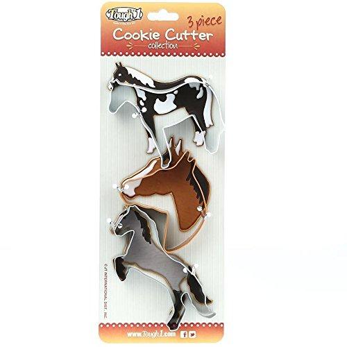Jt International Distributors 3 Piece Horse Cookie Cutter Collection