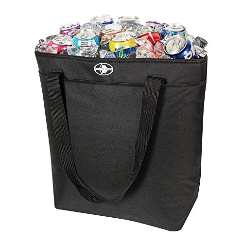50 Can Thermal Tote Black