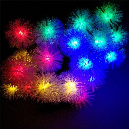 RGB, 5m 20snowballs : YIYANG Natal Novo Ano Solar Novidade LEVOU Bola De Neve Flocos De Neve Luzes Da Corda Do Jardim Ao Ar Livre IP65 Festival Frias Decorao. lmpadas