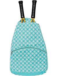 Raqueta de tenis mochila–Raqueta de tenis de la mujer Soporte Bolsa por Lish, Verde azulado, Talla única