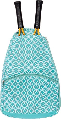 LISH Ace Tennis Racket Backpack – Women's Tennis Racquet Holder Bag (Teal)